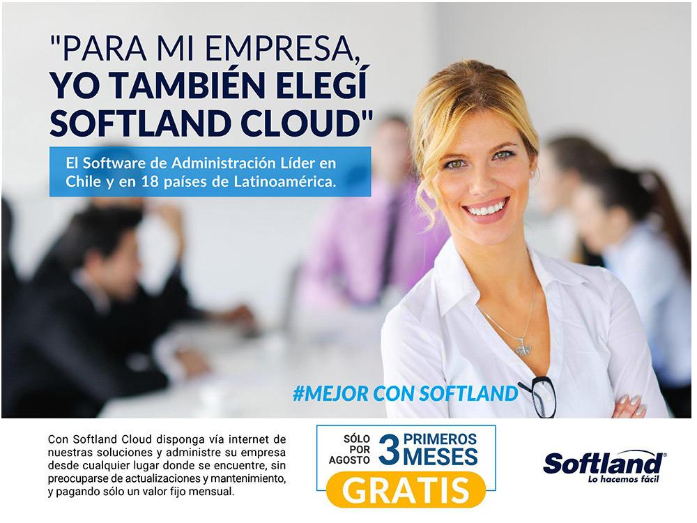 Softland Cloud Promoción Agosto 2018
