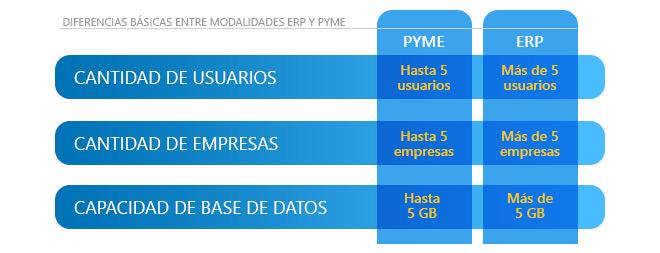 Diferencias ERP y Pyme
