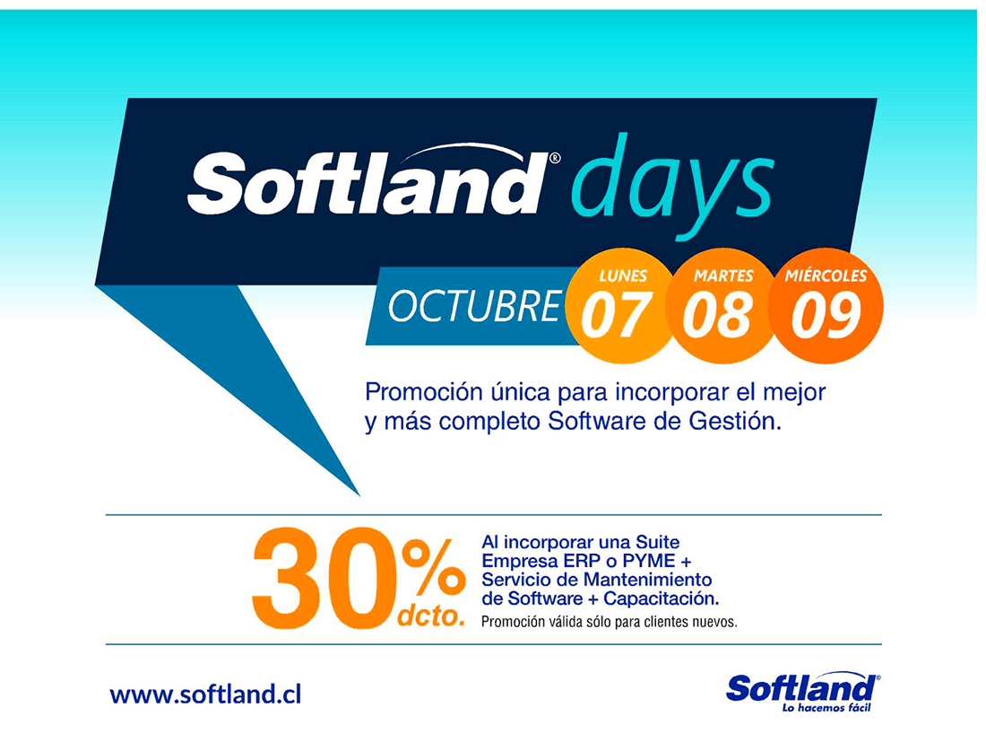 Softland days incorpore el mejor y mas completo software de gestion